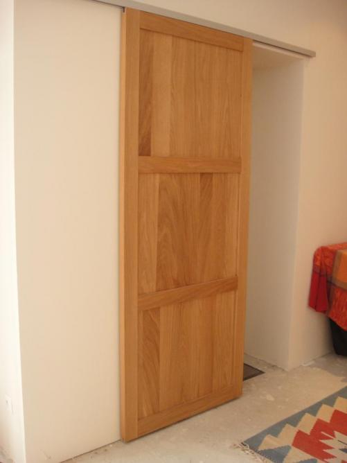 porte coulissante pleine 2. Black Bedroom Furniture Sets. Home Design Ideas